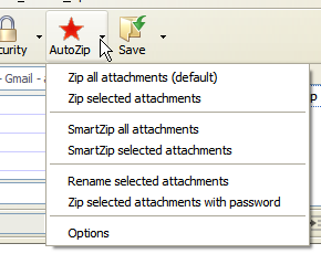 Auto Zip Attachments allows you to easily compress (zip) attachments