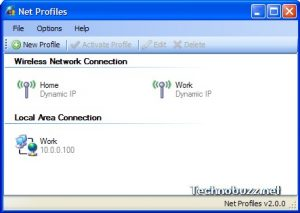 Save your network settings as profiles with Net Profiles