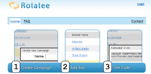 Create Rotate Banners for your website with Rotatee