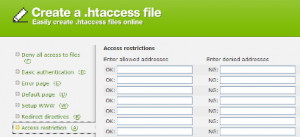 Online .htaccess Generator
