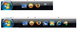 Expand the Quick Launch area in Vista Task bar