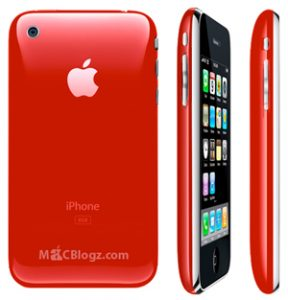 Red colored iPhone 3G coming very soon