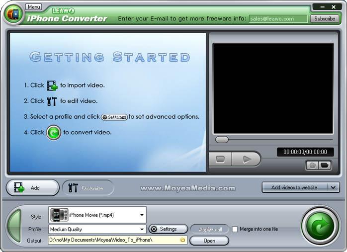 Free iPhone Video Converter