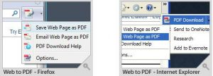 Free Web to PDF Converter for Firefox & IE