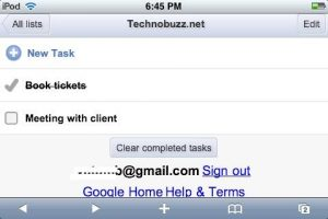 Gmail Tasks on iPhone & Mobile Browsers