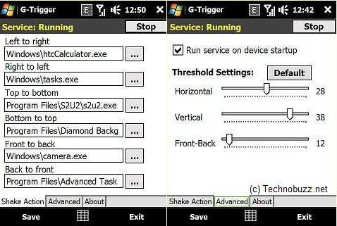 windows mobile shake - G-Trigger - Start Any Application On Windows Mobil