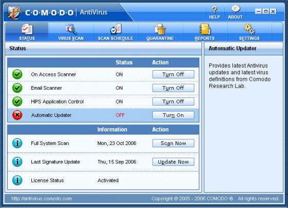 Comodo Firewall and Antivirus