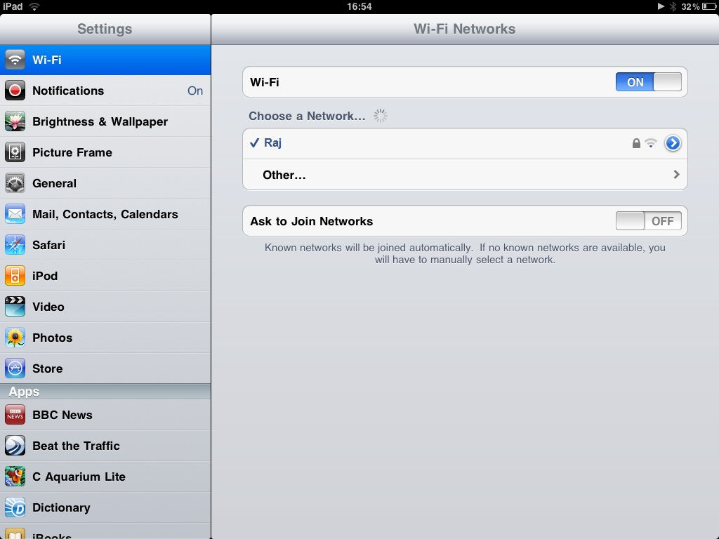 Disable iPad Wifi
