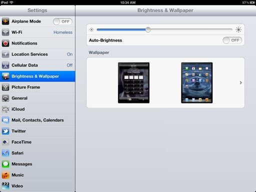 iPad Adjust Brightness