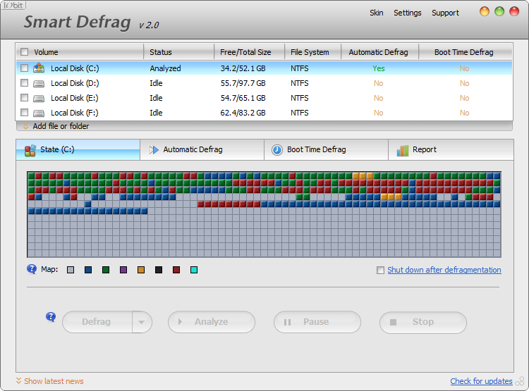 smart defrag, defrag, disk defragmenter, defragment, defrag server, best free defrag, defrag freeware, defrag software