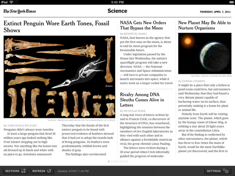 newyork times ipad app Top 30 Best iPad 2 Apps and Games