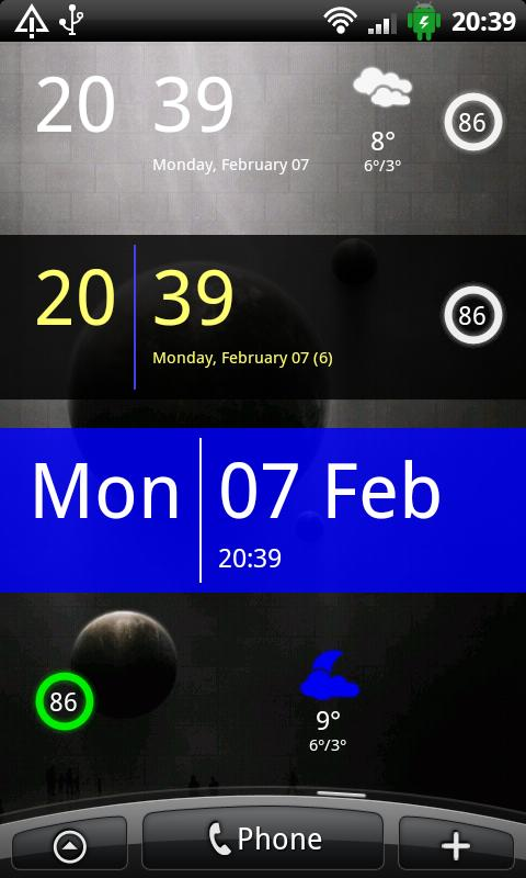 SiMi Clock Widget Top 5 Attractive Widgets To Personalize Your Android Phone