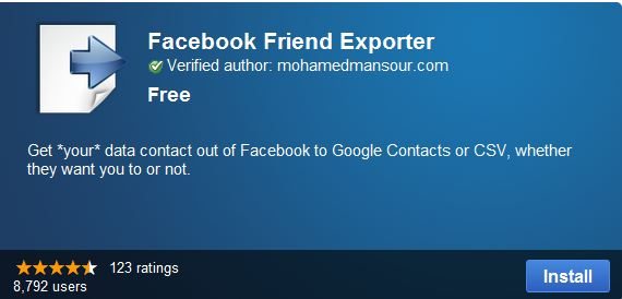 How to use Facebook Friend Exporter Transfer Facebook Friends to Google+