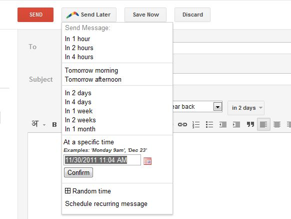 how to add emails in gmail for future