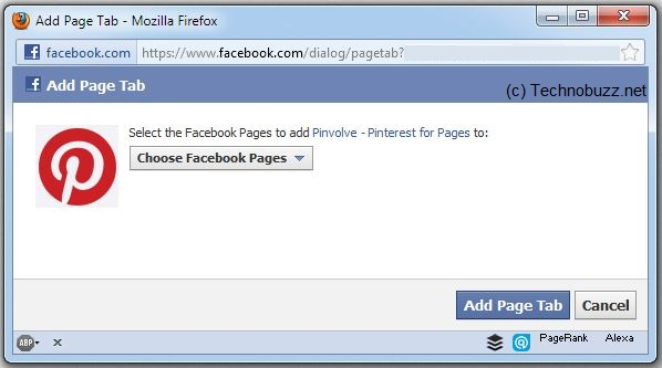 Choose Facebook Page