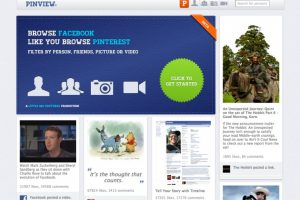 Convert Facebook Timeline Into Pinterest with Pinview