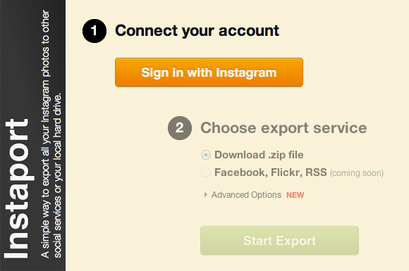 Export, Download and Backup your Instagram photos with Instaport