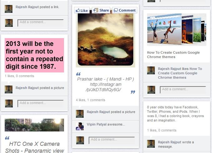 Facebook Wall Like Pinterest