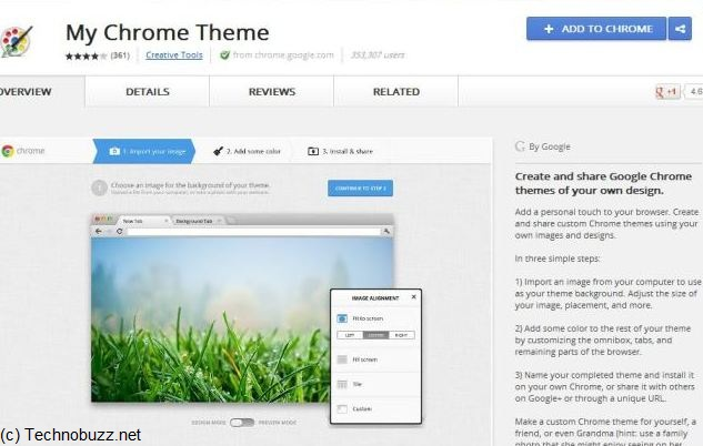Install My Chrome Theme Addon