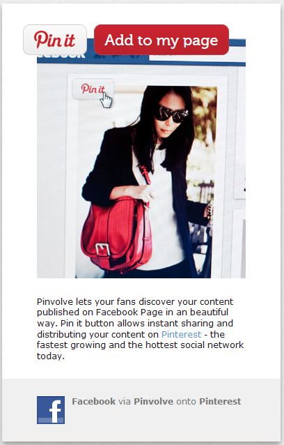 Pinvolve Facebook App Page