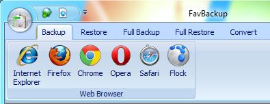 Select Browser To Backup