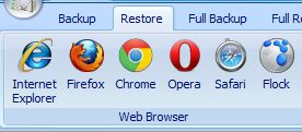 Select Browser To Restore