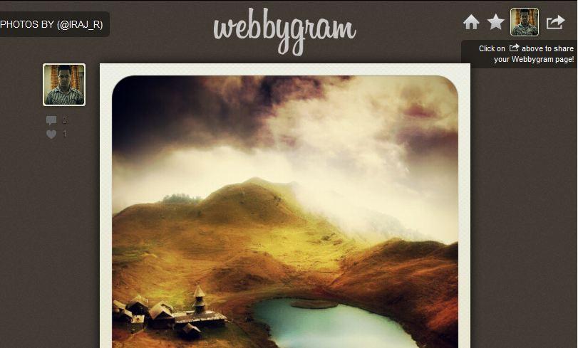 Webbygram Instagram Web App