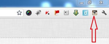 Instagram Icon on Chrome Toolbar