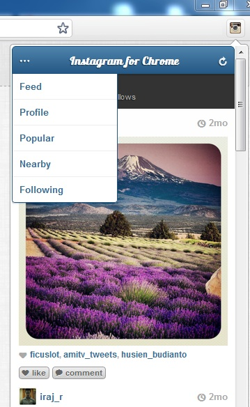Use Instagram for Chrome