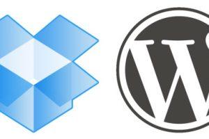 wordpress-dropbox-logos