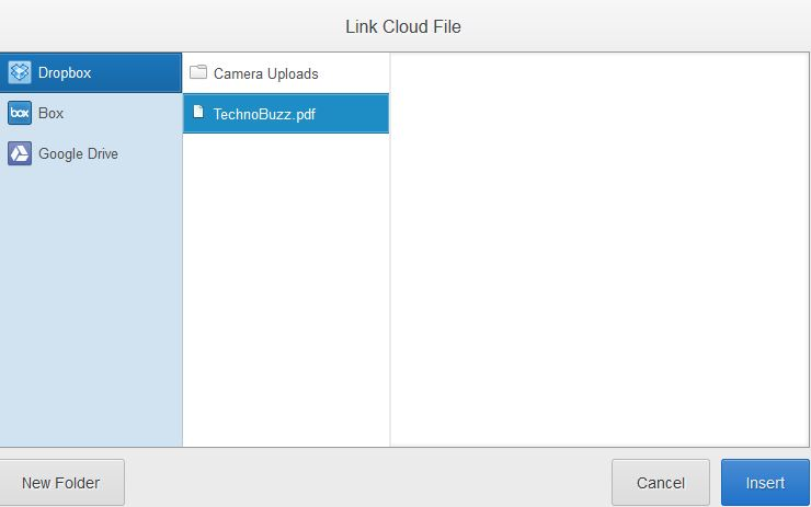 Attach File From Cloud
