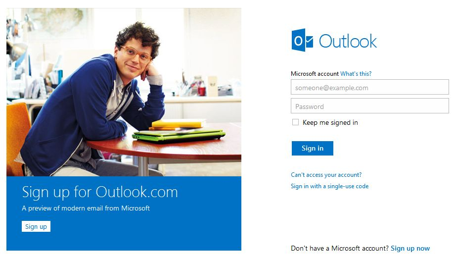 Create New Outlook Email Account
