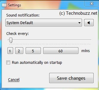 Gmail Notifier Settings