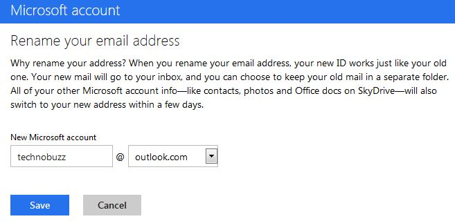 Rename Outlook Email