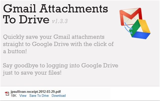 Save Gmail Attachment to Google Drive