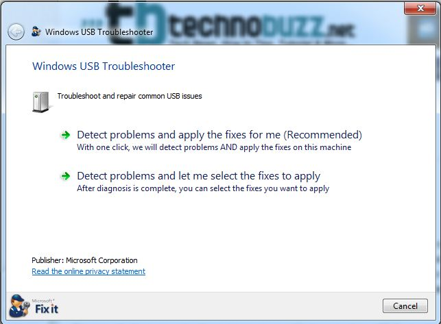 USB Fix it Page