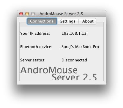 AndroMouse Desktop App