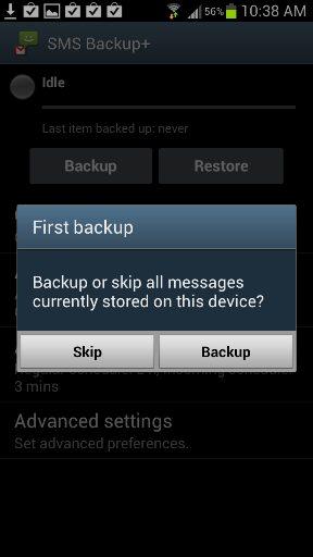 Backup SMS