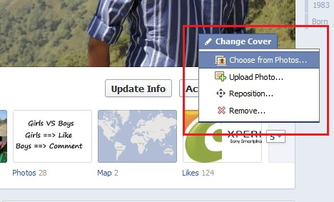 Change Facebook Cover