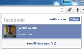 Facebook Notification Window