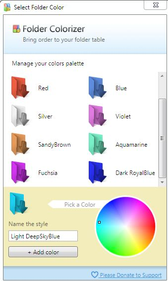 Manage Colors