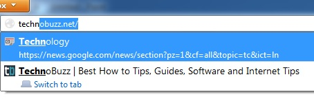 Minimize URL Suggestion Results From Address Bar
