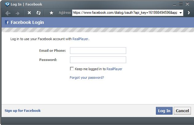 Facebook Login