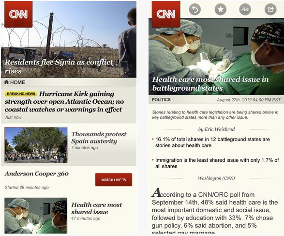 CNN iPhone iPad App