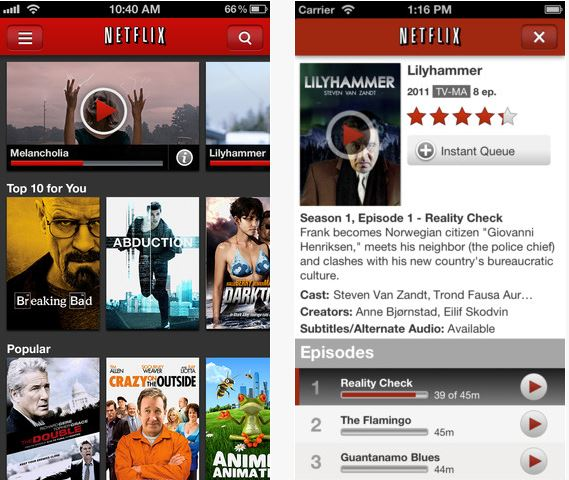 NetFlix iPhone iPad App