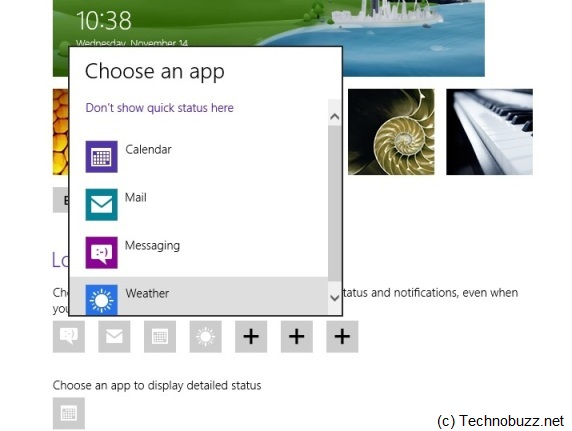 Windows 8 Lock Screen Notification Settings