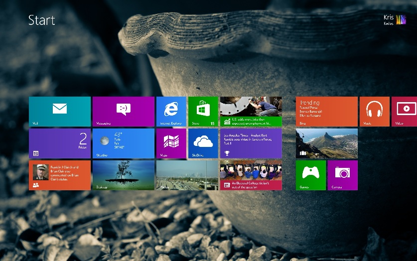 Windows 8 Start Screen Tile Customization