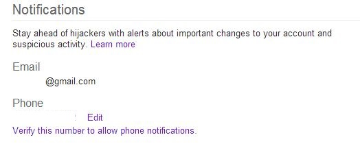 Google Notifications