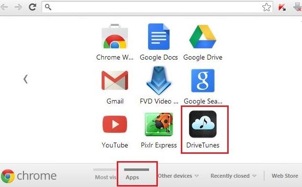 Chrome App Page