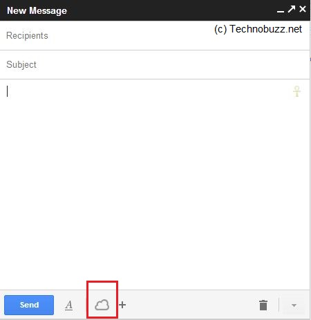Cloudy Icon on Gmail Compose Window
